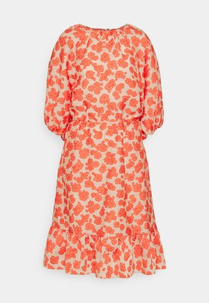 CLEMENTE - Day dress - coral