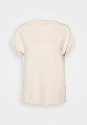 HIGH NECK - Basic T-shirt - cream beige