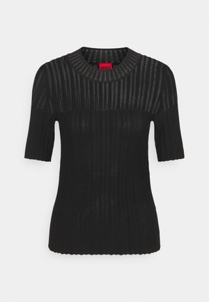 SHOMANY - Print T-shirt - black