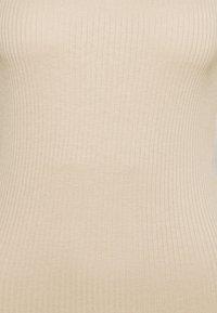 Vero Moda - VMMIA HIGHNECK BODY - Long sleeved top - beige - 6