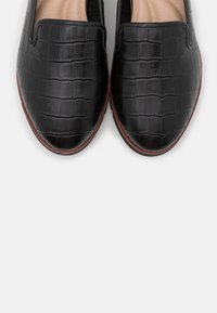 Dune London WIDE FIT - WIDE FIT GALLEON - Slip-ons - black - 5