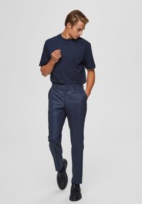 Selected Homme - T-shirts basic - sky captain - 1