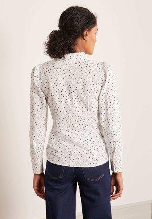 TORI - Button-down blouse - naturweiß, polka-tupfen