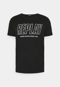 Replay - T-shirt con stampa - black - 4