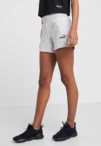 Puma - SHORTS - Sports shorts - light gray heather - 0
