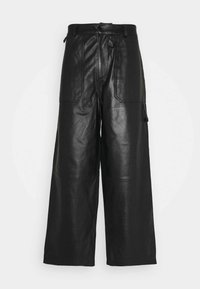 Holzweiler - TEFF TROUSER  - Leather trousers - black - 6