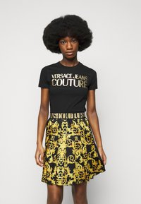 Versace Jeans Couture - LADY SKIRT - Pleated skirt - black - 3