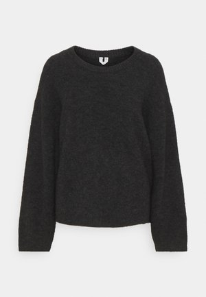 SWEATER - Jumper - dark grey melange