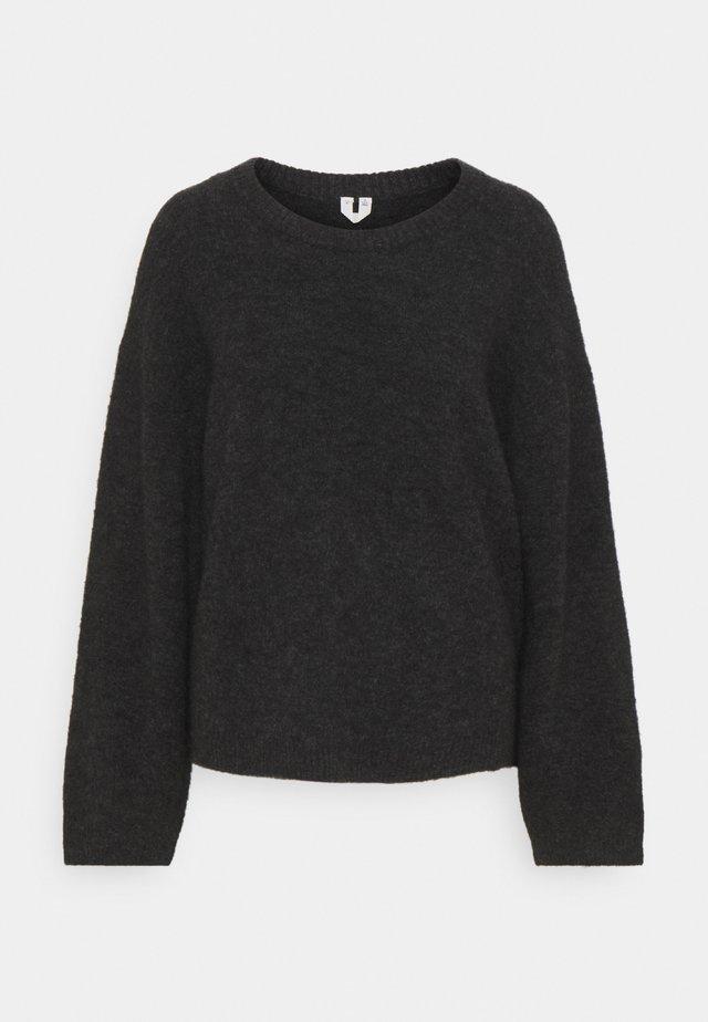 SWEATER - Sweter - dark grey melange