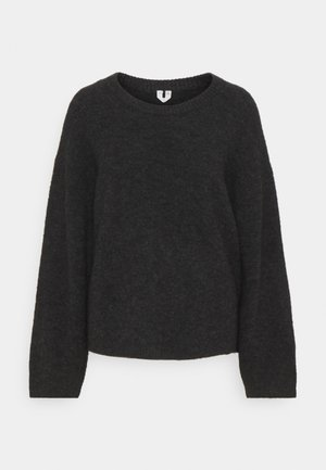 SWEATER - Stickad tröja - dark grey melange