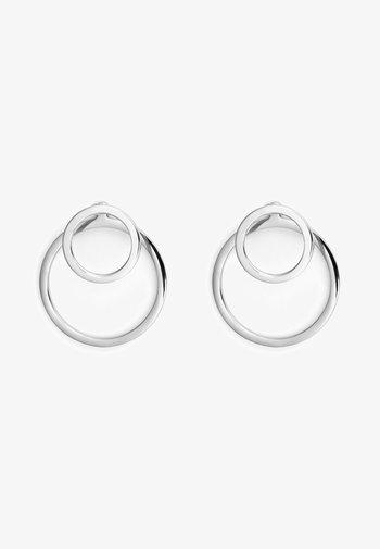 EAR JACKET 2 -IN -1 - Earrings - silver-coloured