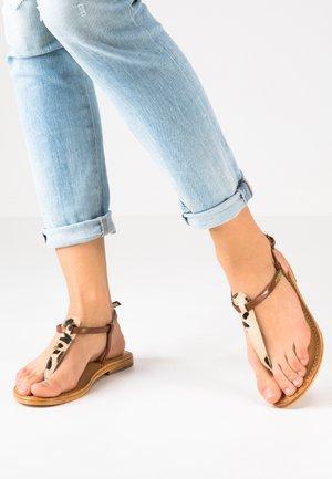 NARVIL - T-bar sandals - tan
