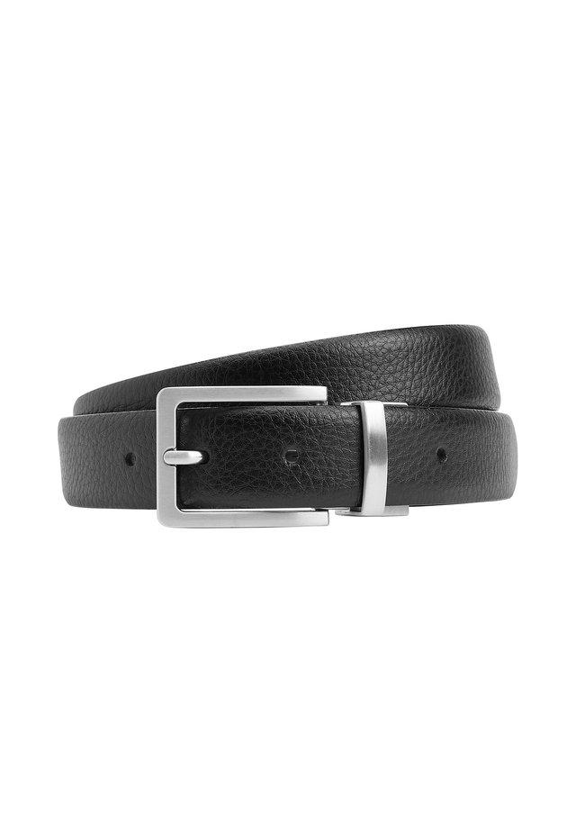 SIGNATURE ITALIAN LEATHER GRAIN EFFECT - Formální pásek - black
