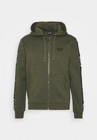 EA7 Emporio Armani - FELPA - veste en sweat zippée - grape leaf - 5