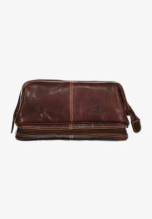 Wash bag - dark brown plain