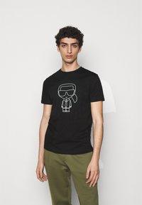 KARL LAGERFELD - CREWNECK - Print T-shirt - black - 0
