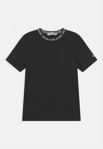 INTARSIA LOGO UNISEX - Print T-shirt - black