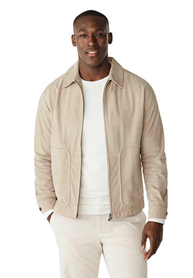 Leather jacket - sand