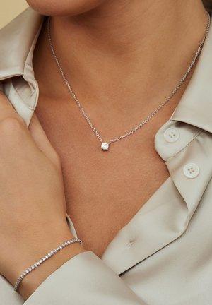 SET - Necklace - silver coloured