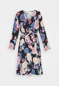 Vila - VIKITTIE DRESS - Day dress - black/blue/rose/beige - 6