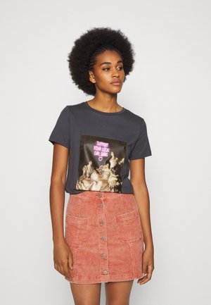 ONLGIRLY SQUAD - Print T-shirt - dark grey