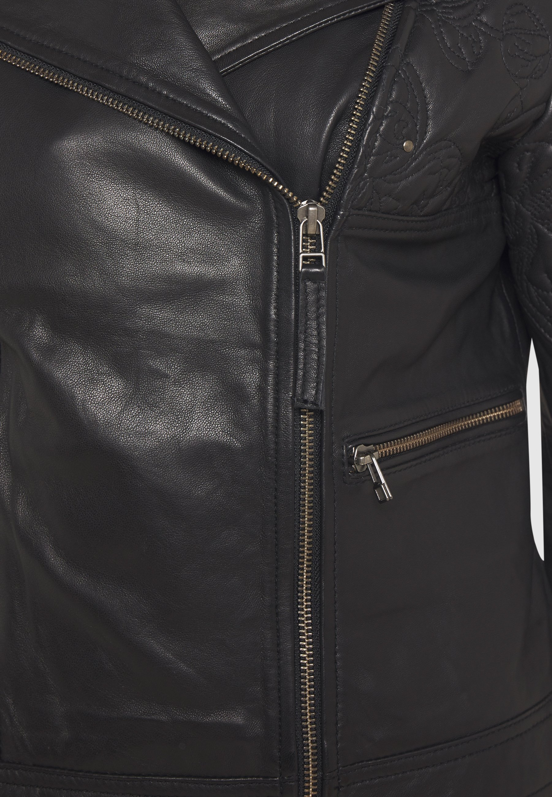 Get The Latest Fashion Women's Clothing Cream CARNIE JACKET Faux leather jacket pitch black yb2ZBDfiD
