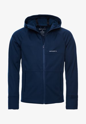Soft shell jacket - zinc blue