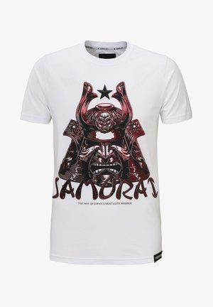 SAMURAI - Print T-shirt - white