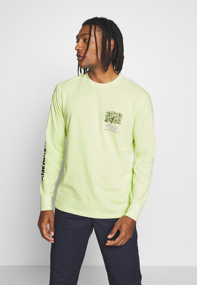 BOUND NECK TEE - Long sleeved top - lime fizz