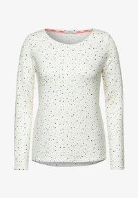 Cecil - MIT PUNKTEN - Long sleeved top - weiß - 3