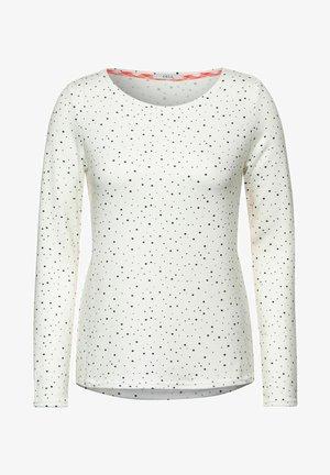 MIT PUNKTEN - Long sleeved top - weiß