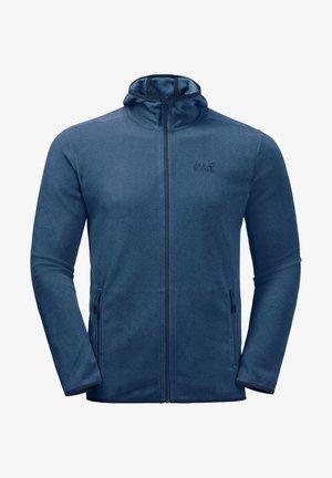 Fleece jacket - indigo blue stripes