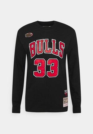 NBA CHICAGO BULLS NUMBER TEE - Club wear - black