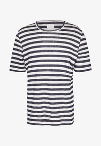 120% Lino - STRIPE - T-shirt imprimé - grey - 4