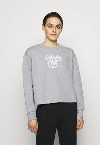 Pinko - BUFFY FELPA - Sweatshirt - grigio pioggerlla - 0