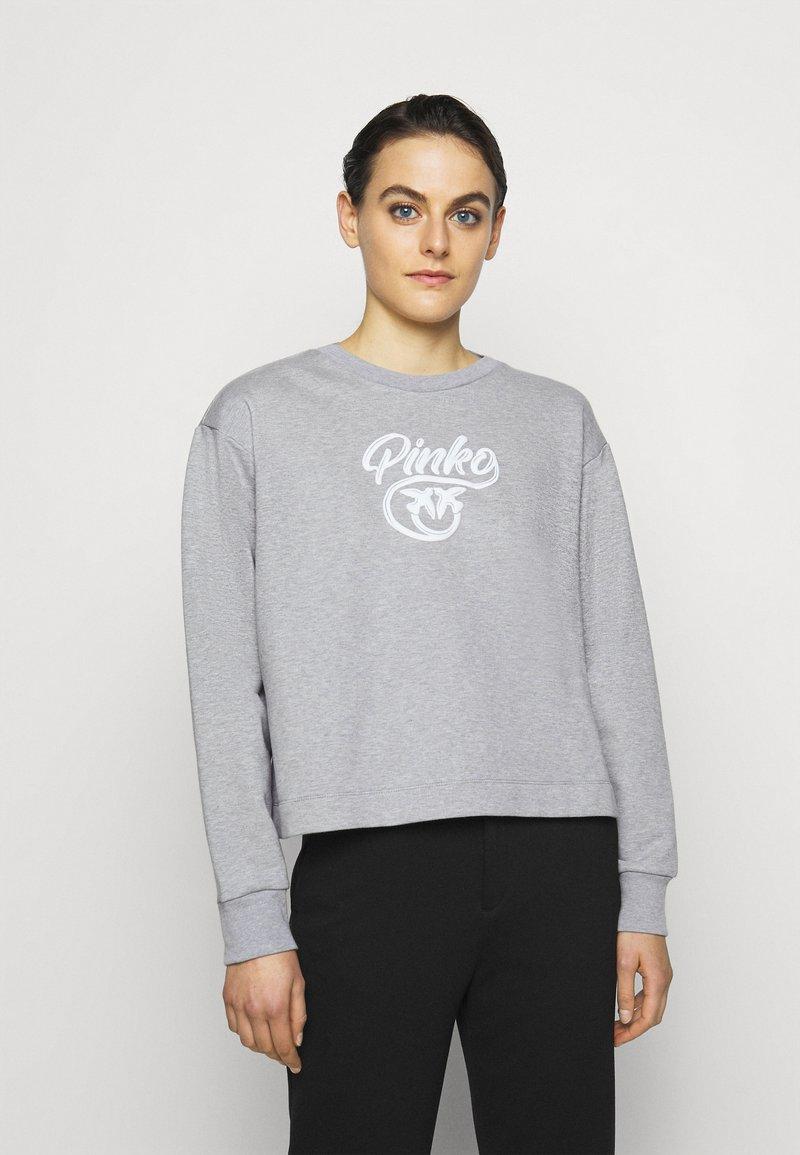 Pinko - BUFFY FELPA - Sweatshirt - grigio pioggerlla