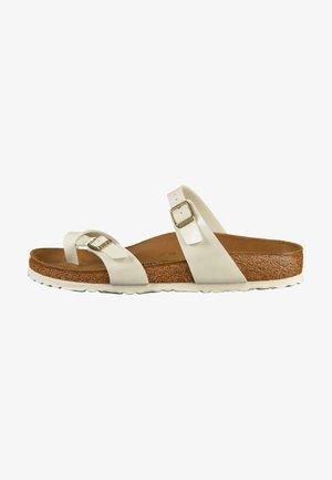 MAYARI - T-bar sandals - white