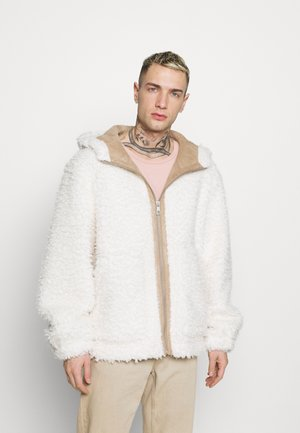 HOODED - Summer jacket - white
