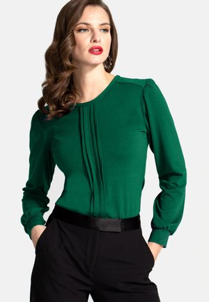 PLEAT FRONT - Bluser - green