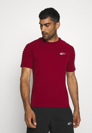 HERREN RIPPLEZ - T-shirt z nadrukiem - bordeaux