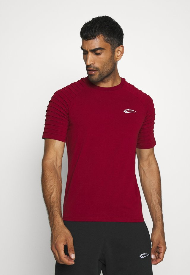HERREN RIPPLEZ - T-shirts med print - bordeaux