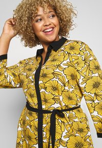 Ciso - DRESS WITH FLOWER PRINT - Skjortklänning - cheddar yellow - 3
