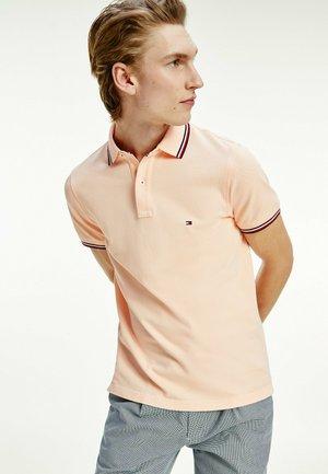 TIPPED SLIM - Polo shirt - delicate peach