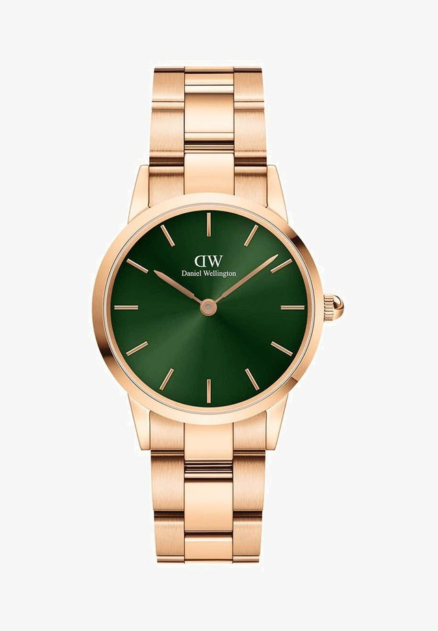ICONIC LINK EMERALD - Montre - rose gold