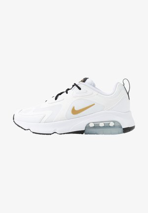 AIR MAX 200 - Sneaker low - white/metallic gold/black/metallic silver