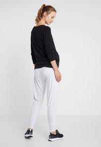 Cotton On Body - DROP CROTCH STUDIO PANT - Pantalones deportivos - grey marle - 2