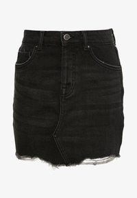 ONLY Petite - ONLSKY SKIRT RAW EDGE - Spódnica jeansowa - black - 0