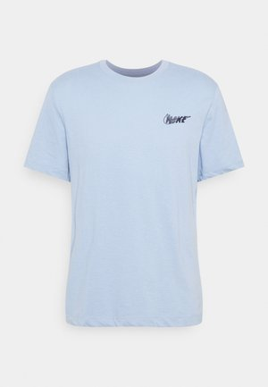 DRY TEE - Print T-shirt - psychic blue/light smoke grey