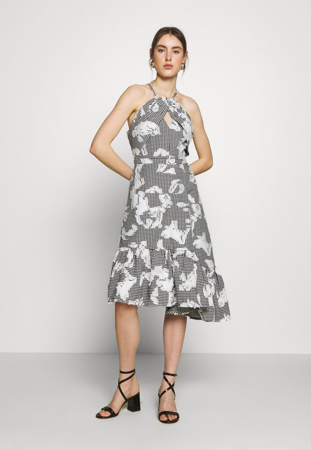 FLORENCE DRESS - Vapaa-ajan mekko - black/off white