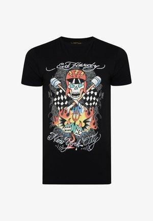 SKULL-RACER T-SHIRT - Print T-shirt - black